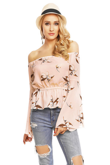 Top Long Sleeve Voyelles L472 Apricose S