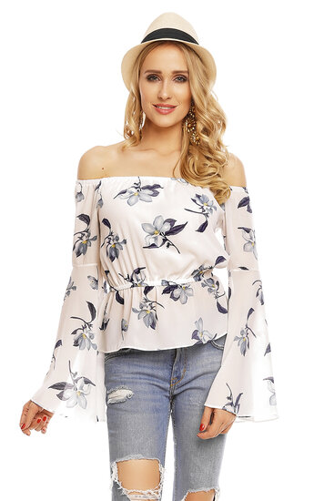 Top Long Sleeve Voyelles L472 White L
