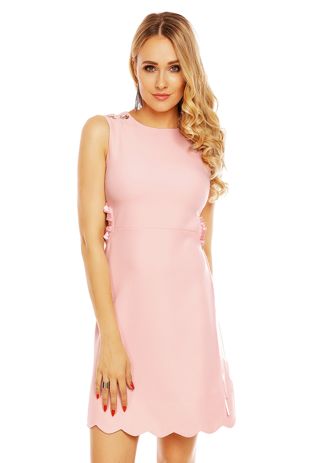 Damen Kleid Mini Cocktail Abendkleid Partykleid Schulterfrei Sommer MR628-6