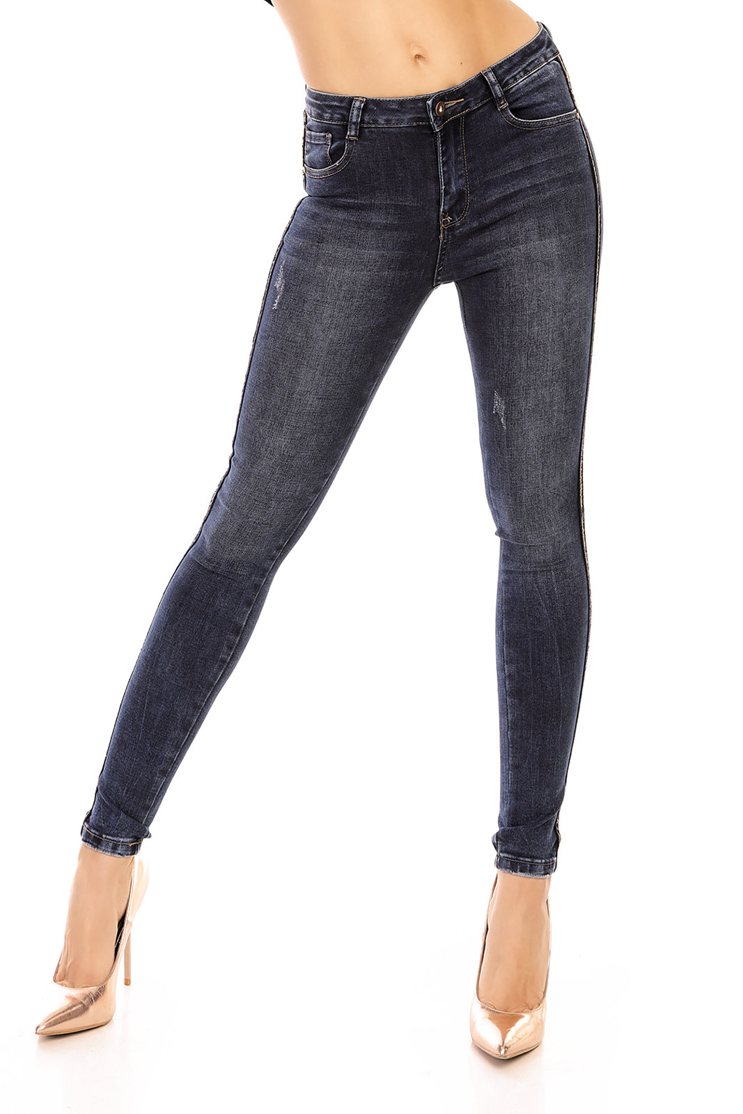 Pants Jeans Laulia 5D098 Dark Blue